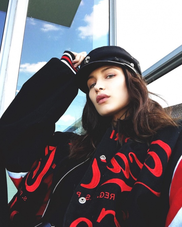 1bf32009316 Bella Hadid s Obsession with the Breton Hat Continues - Savoir Flair