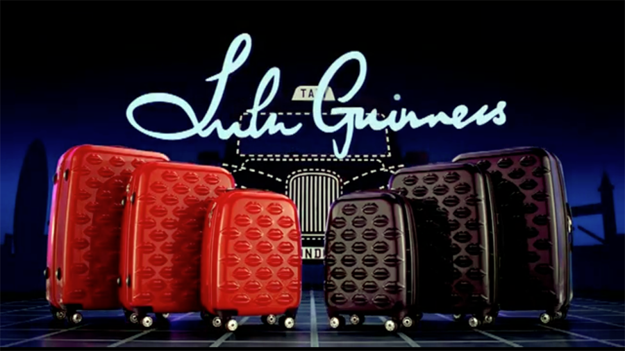 Video Lulu Guinness The World is Your Oyster luggage collection