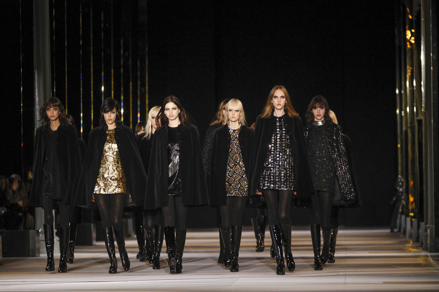 Paris Fashion Week Coverage: Saint Laurent Fall 2014 Collection