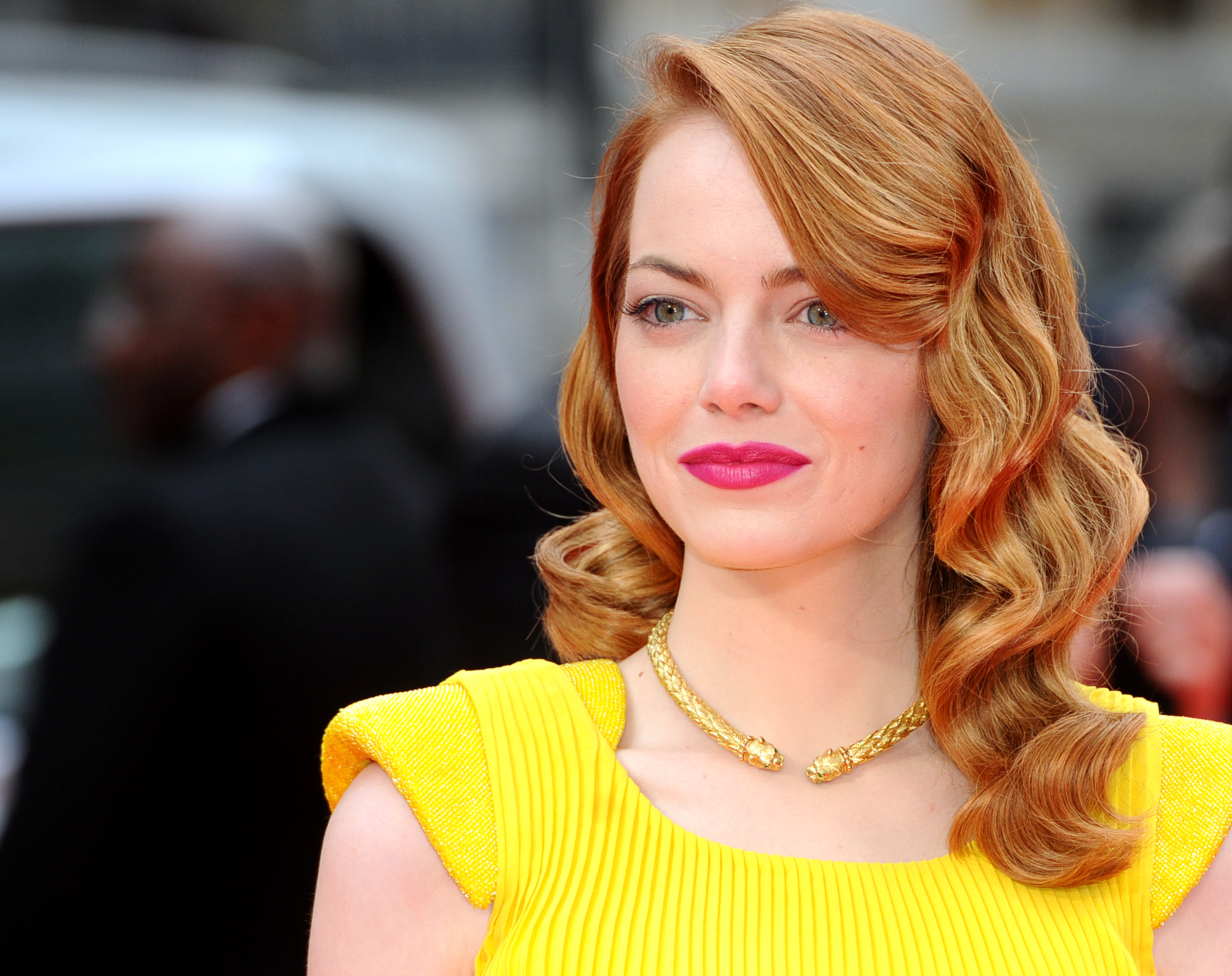 Emma Stone high collar necklace