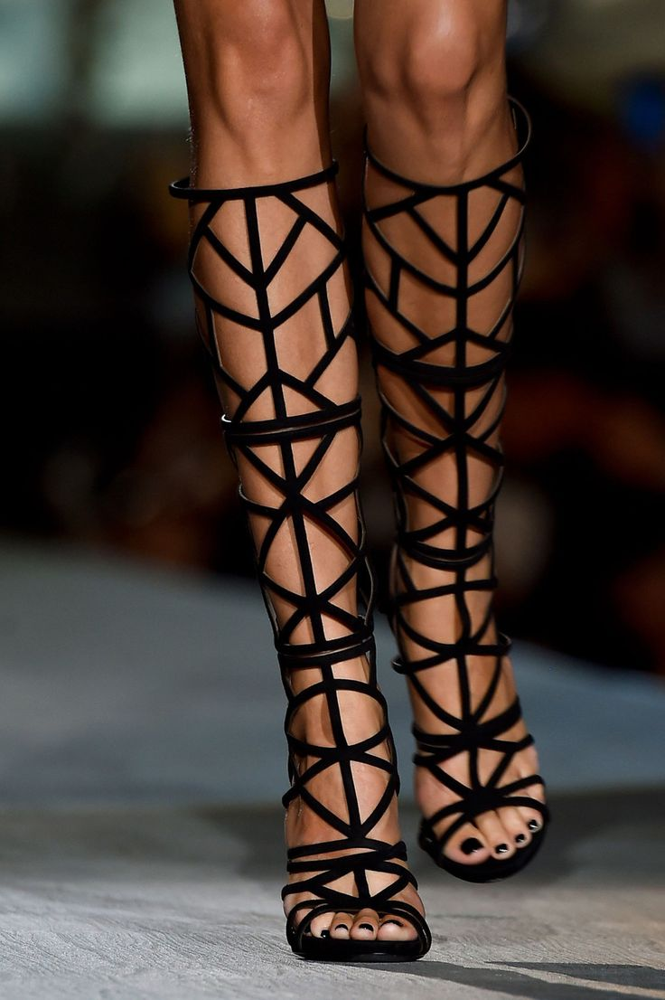 Milan Fashion Week Coverage: Exquisite Thigh-Highs by Dsquared2