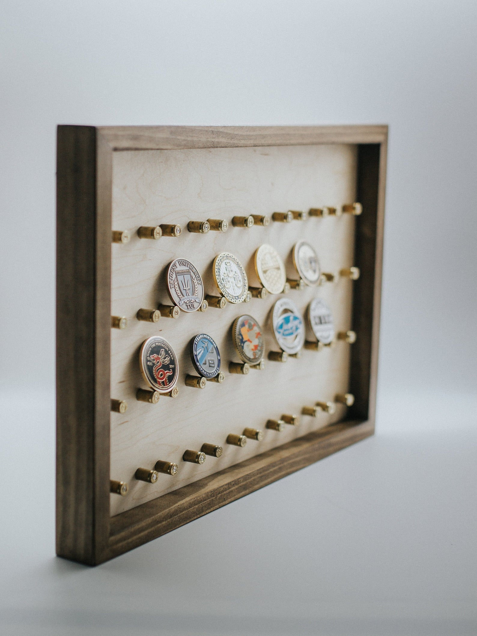framed coin collection NicksWoodDesign