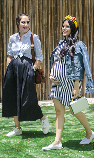 Dressing for Two: Pregnancy Style Tips from Moms-To-Be Dana Hourani and Karen Wazen