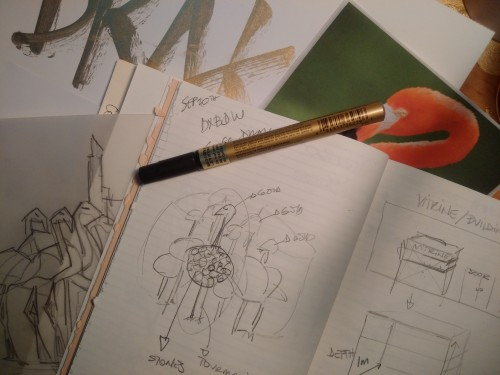 Dubai Design Week Nadine Kanso and Khulood Sketch