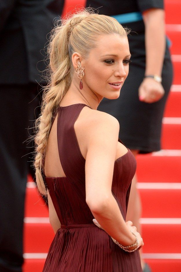 Blake Lively Pony Braid