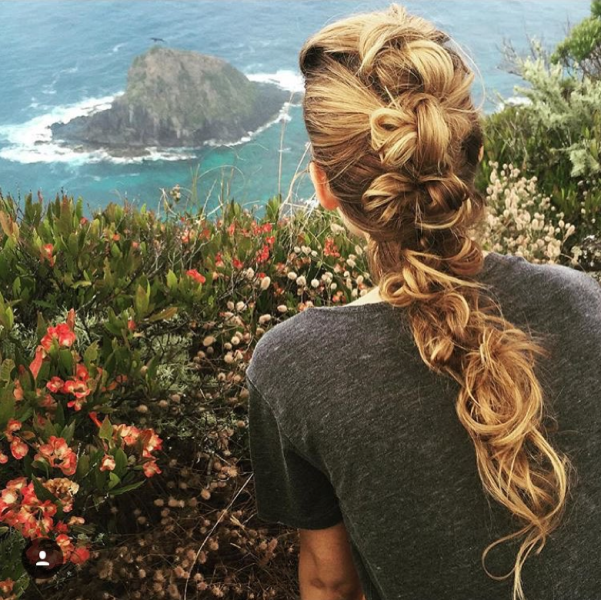 Blake Lively Mohawk Braid Instagram