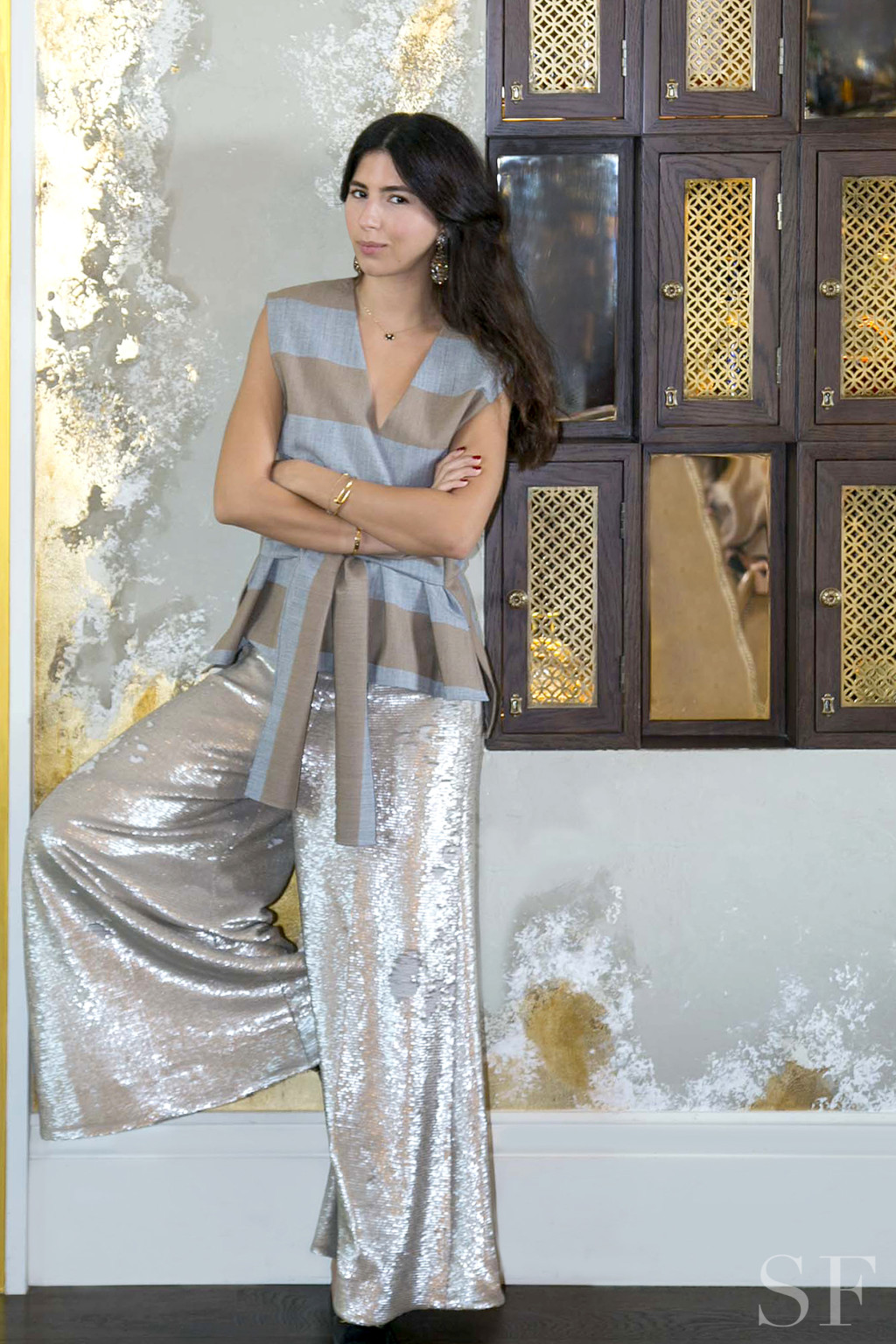 Alia Al Sadek Demonstrates How to Wear a Sequined Culotte All Year Long