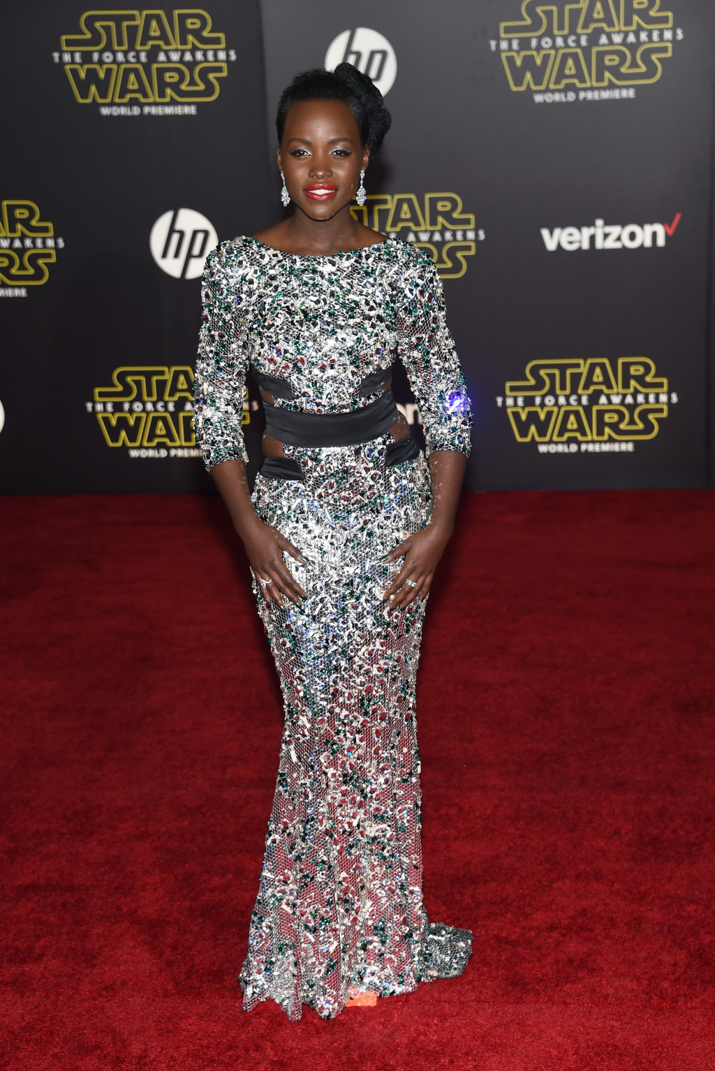 The Best Otherworldly Red-Carpet Looks from the 'Star Wars VII' Premiere