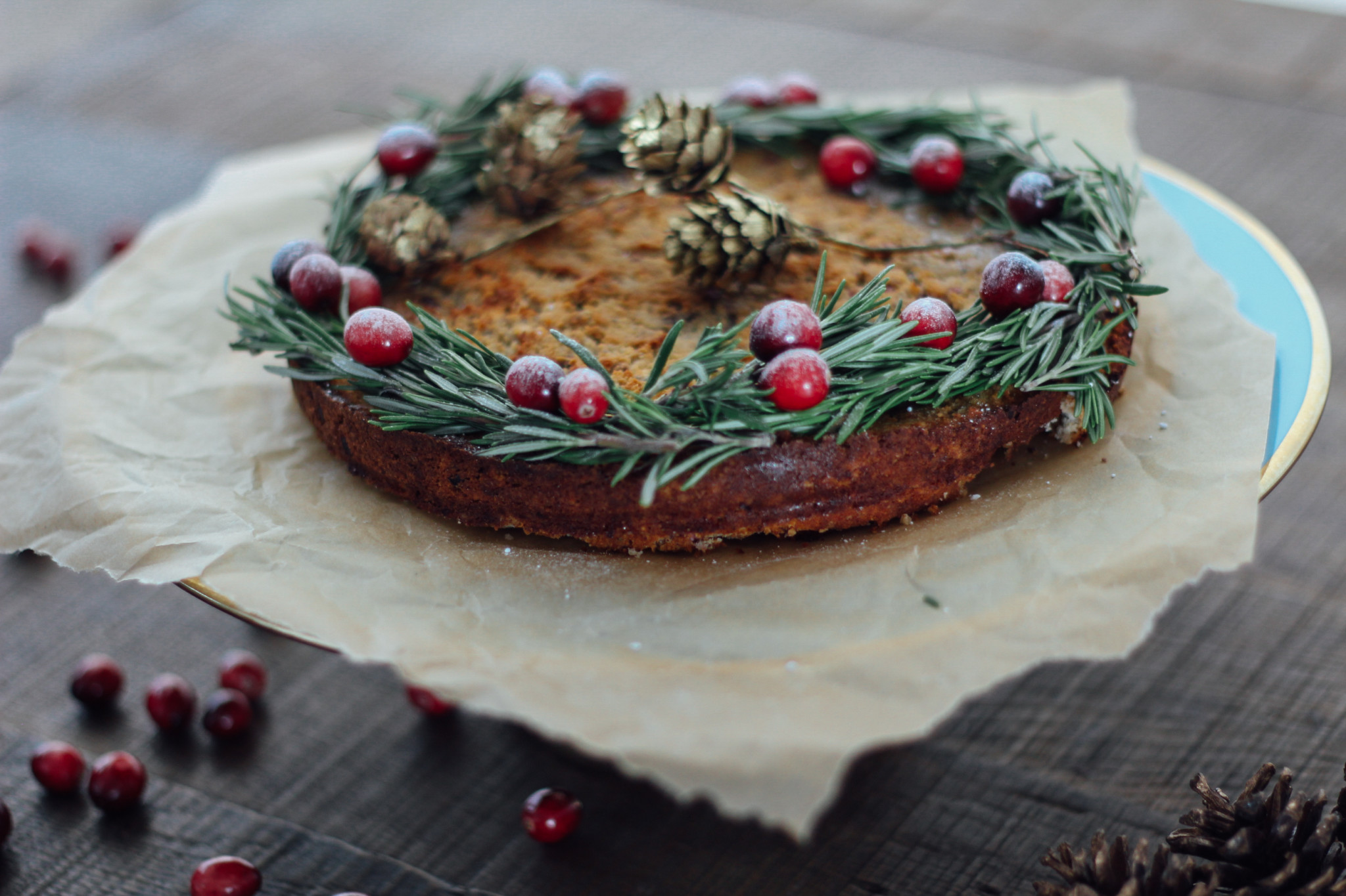 Vegan gluten-free cranberry cake recipe