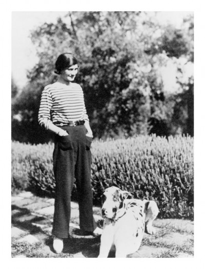 Coco Chanel wearing trousers