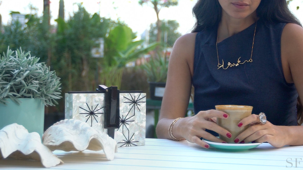Nathalie Trad Tries Dubai's Best Coffee Shops in the Season's Best Jewelry