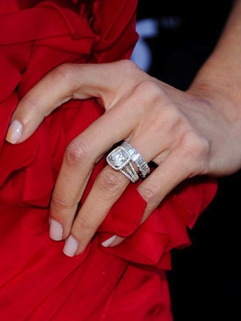 Red dress engagement wedding ring