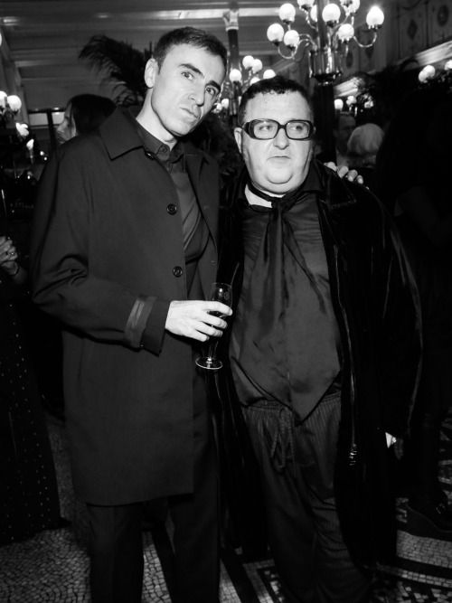 raf simons and alber elbaz