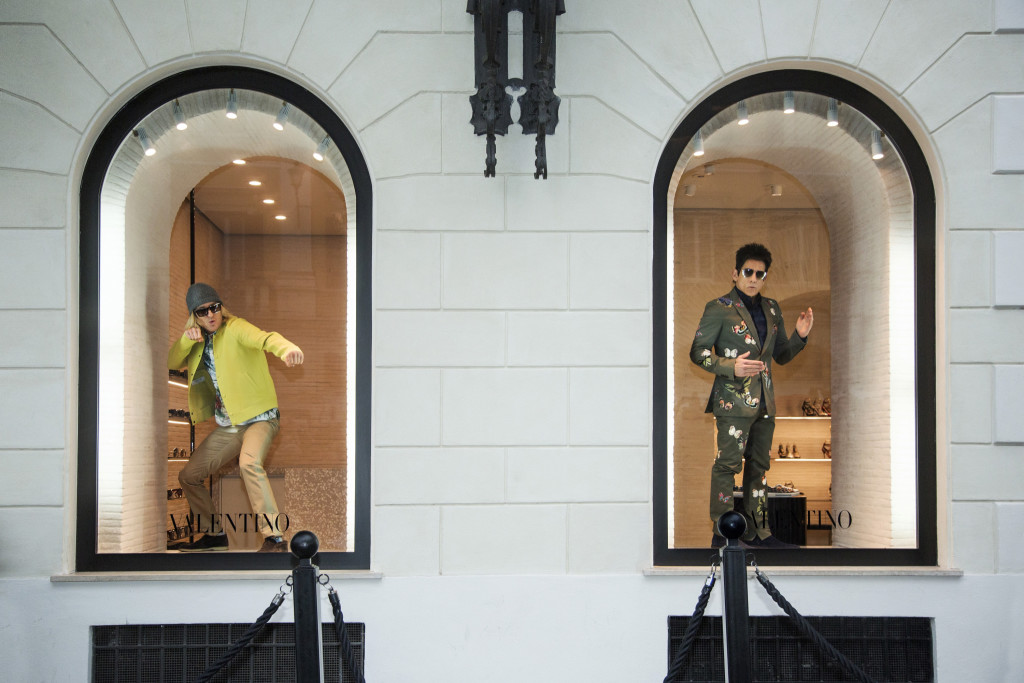Derek Zoolander and Hansel Make an Appearance in the Valentino Windows