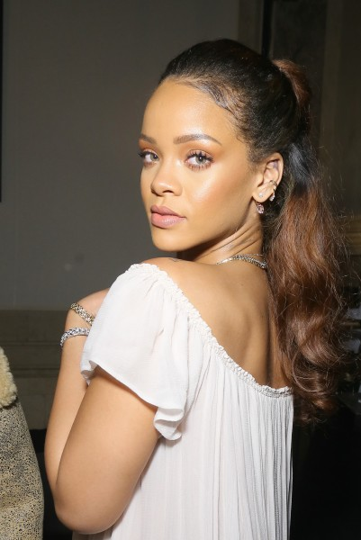 Rihanna Hair Vogue 95th Anniversary Party 2015