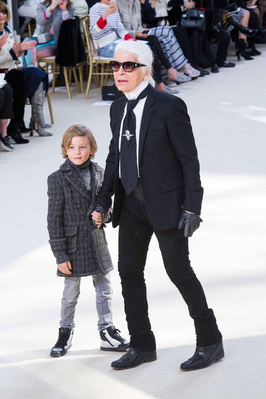 Hudson Kroenig's Most Adorable Chanel Runway Moments