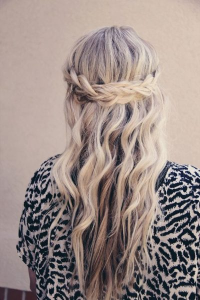 French Braid Waterfall Hairstyle