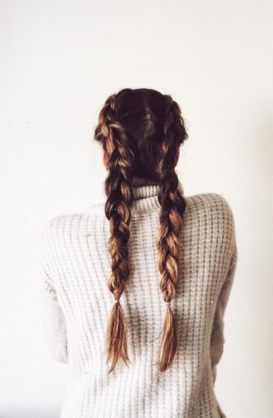 Boxer Braid Pigtails