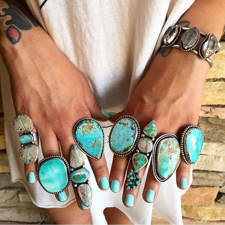 Trend Alert: Turquoise-and-Silver Jewelry Is Making a Comeback