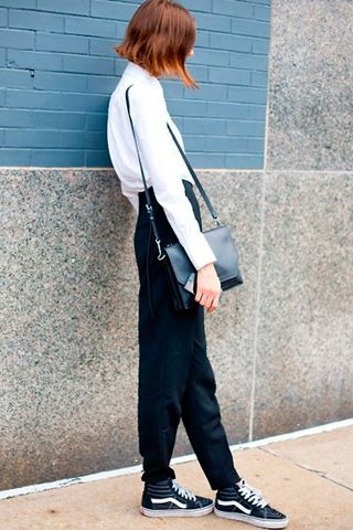 8abdc64076da Outfit Ideas  How to Wear Sneakers to Work - Savoir Flair