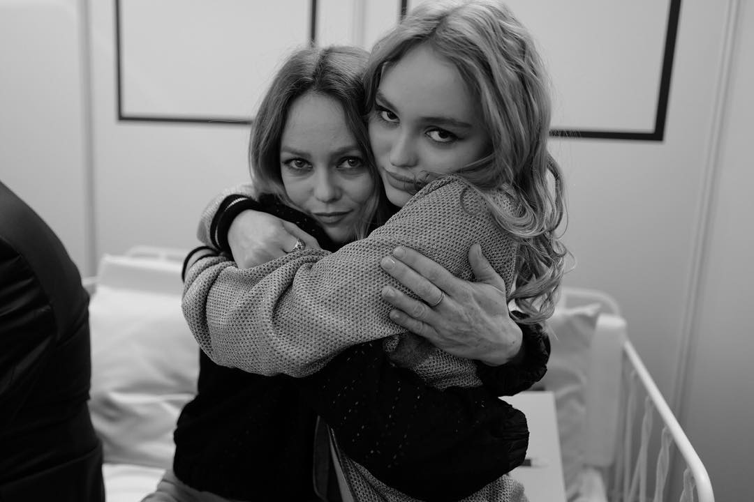 Lily Rose Depp and Vanessa Paradis