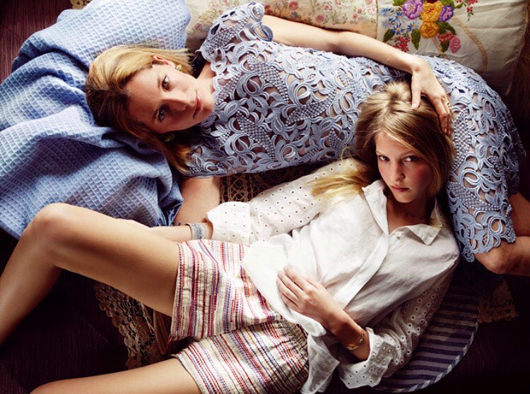Ella Rose Richards and Lucie de la Falaise