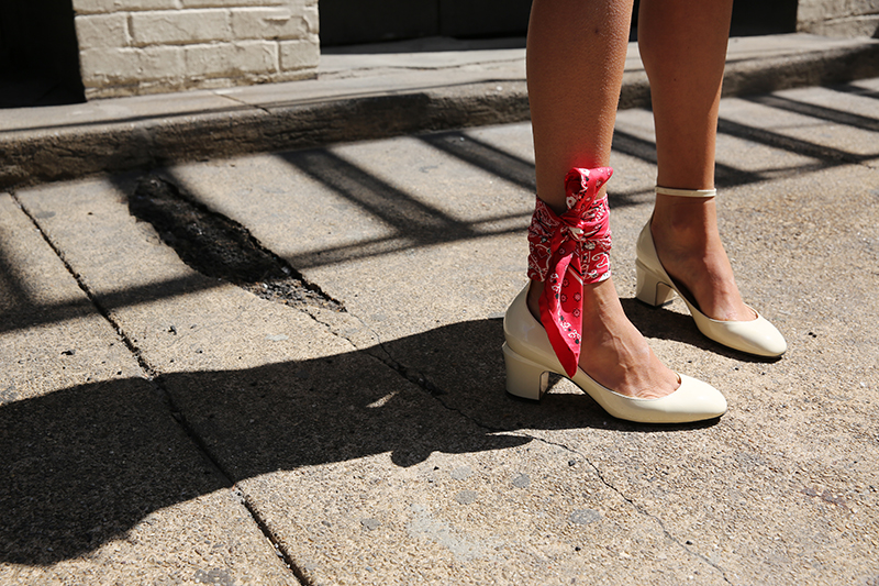 Man repeller bandana anklet detail