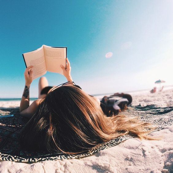 Beach book reading pinterest