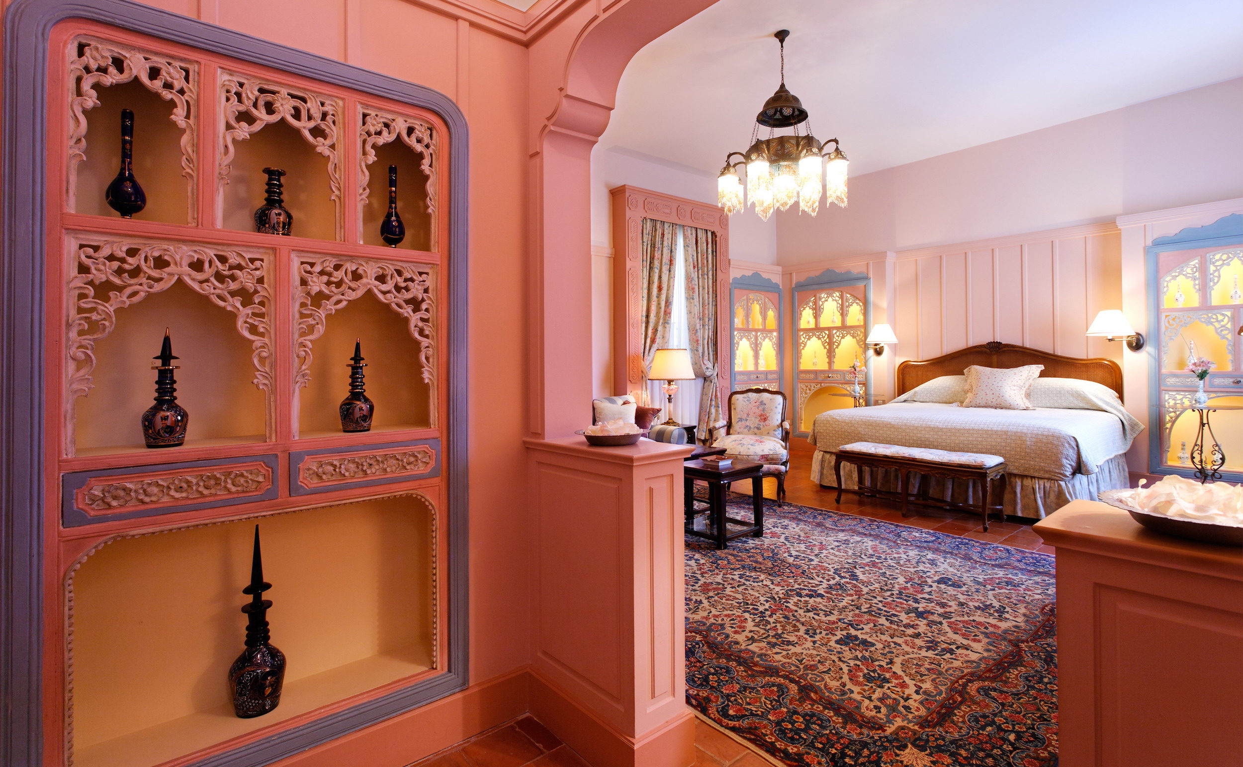 hotel albergo business suite pink
