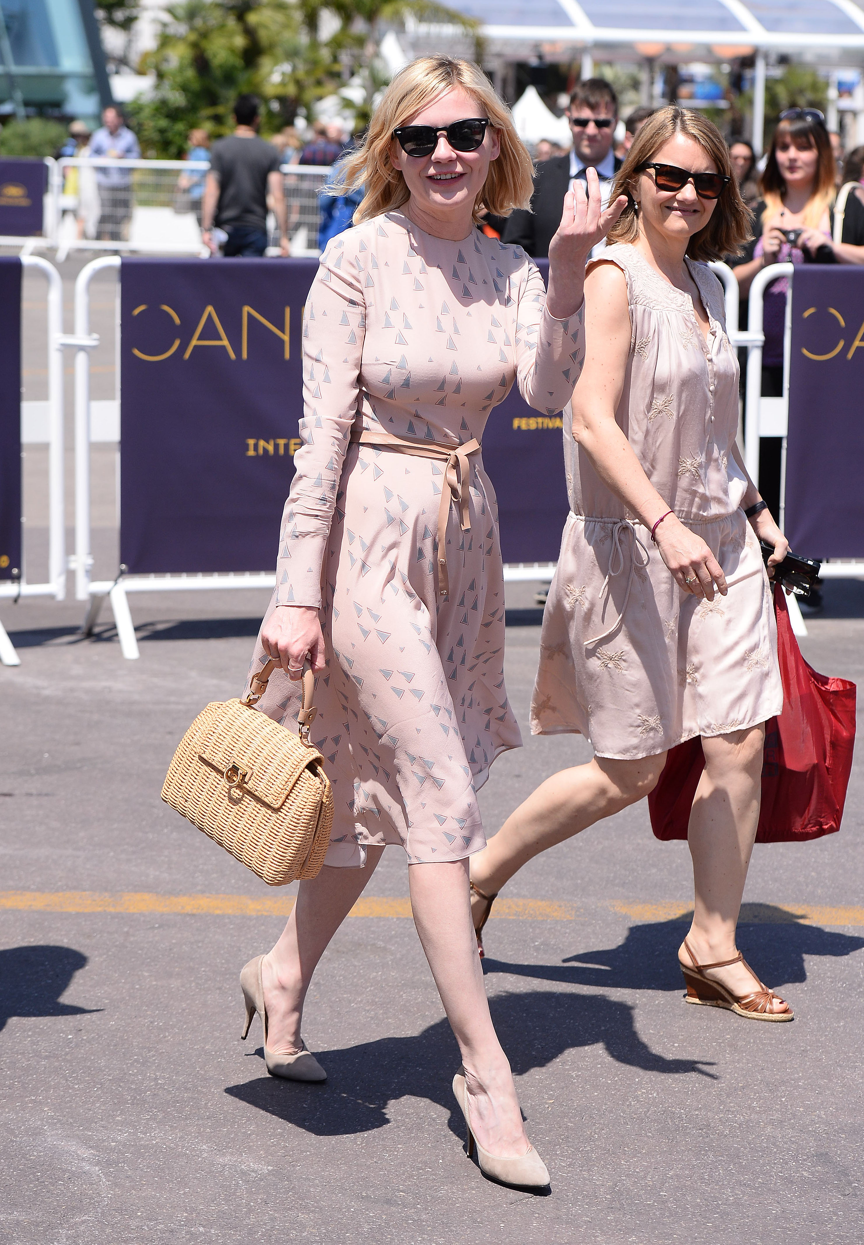 Vanessa Paradis, Kirsten Dunst and Rossy de Palma seen in Cannes, France