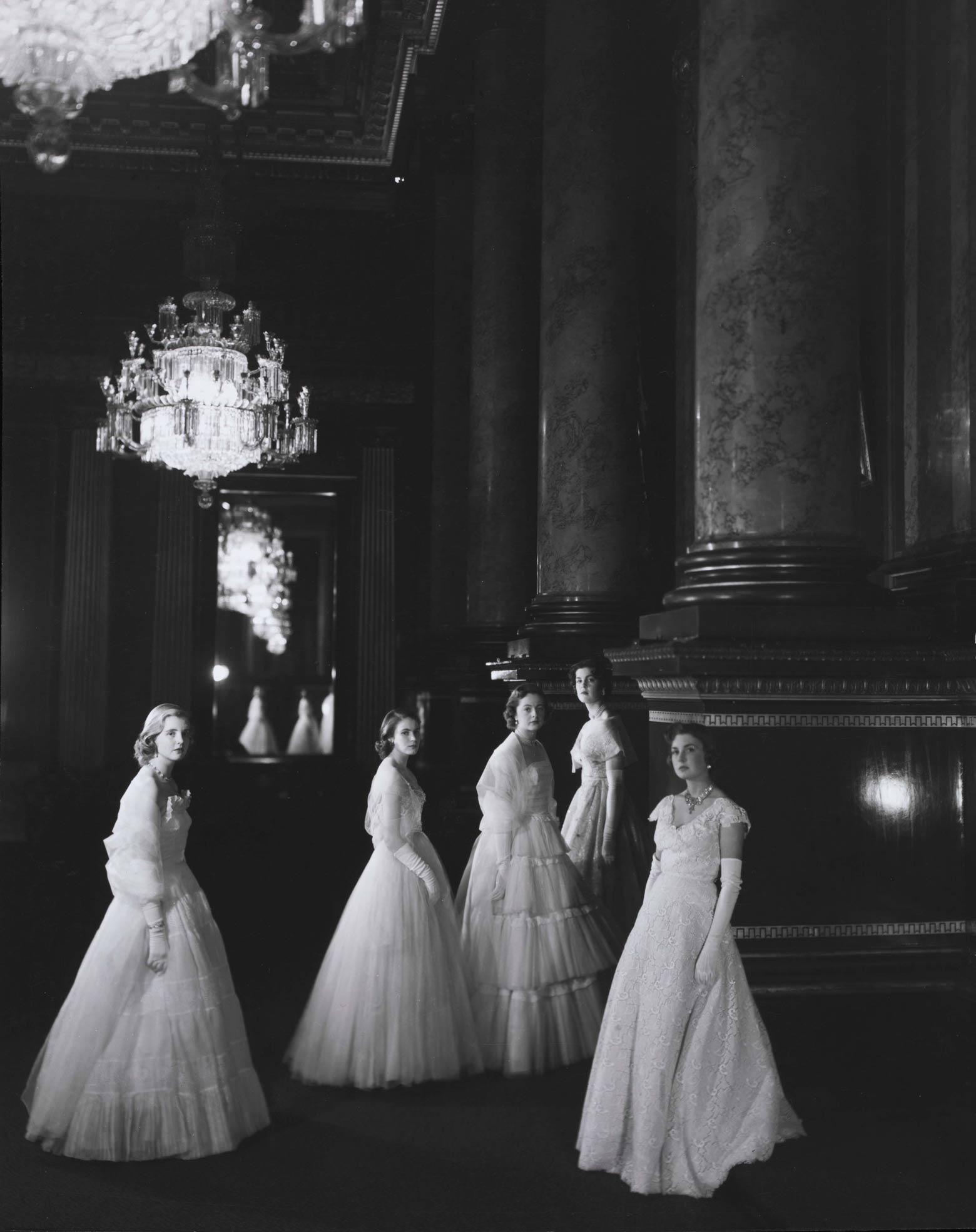 1930s Maids of Honor by Cecil Beaton at the coronation of Queen Elizabeth II