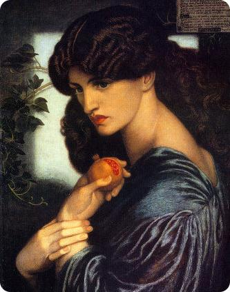 Jane Morris painted by Dante Gabriel Rossetti as Proserpine