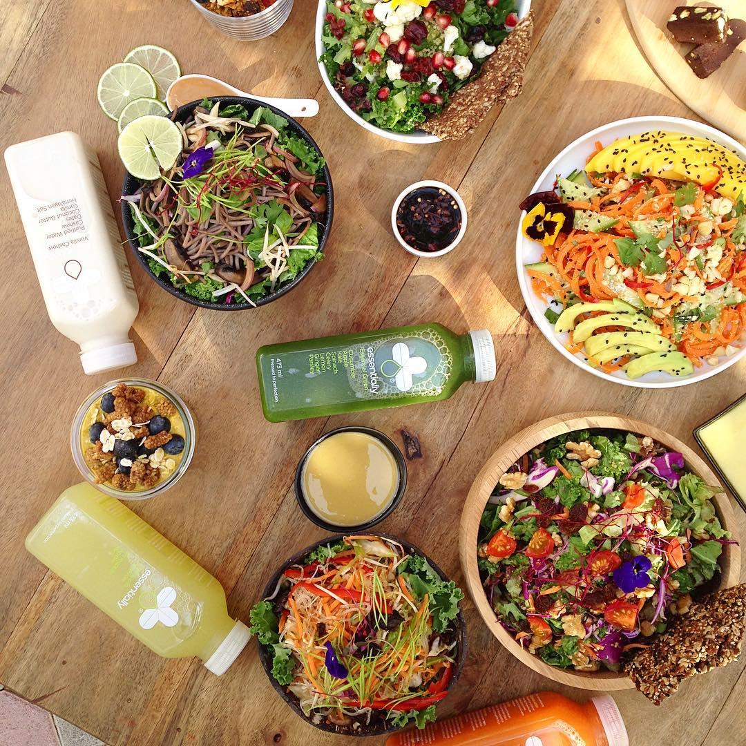 Essentially dubai juices and salad bowls