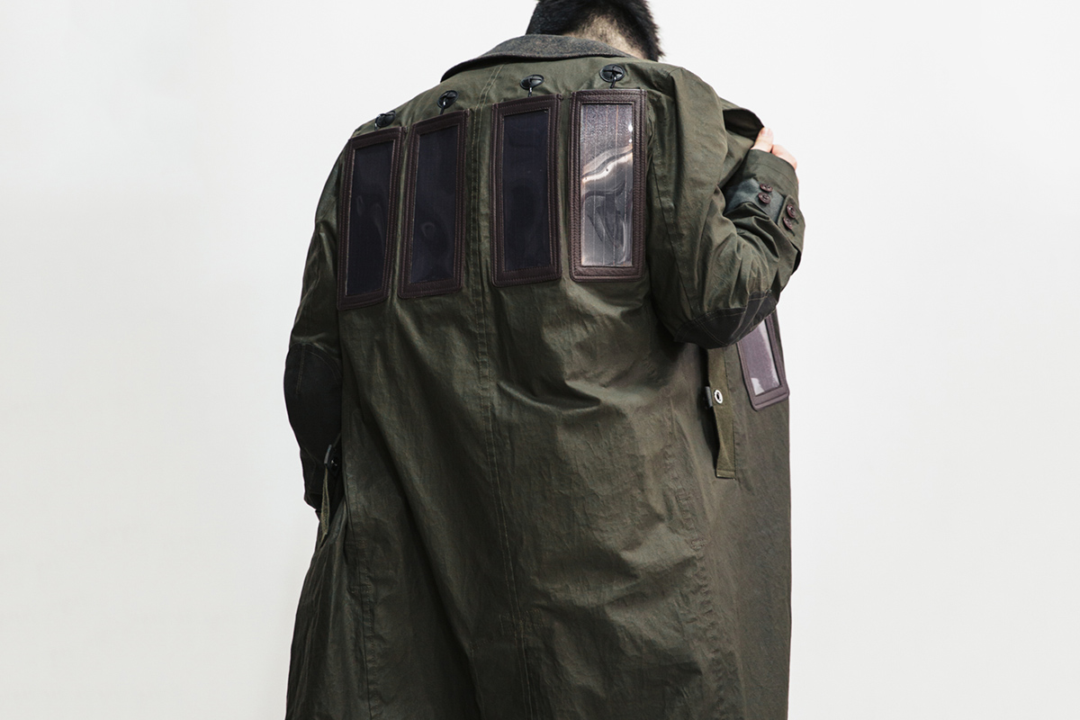 Junya Watanabe solar powered trench