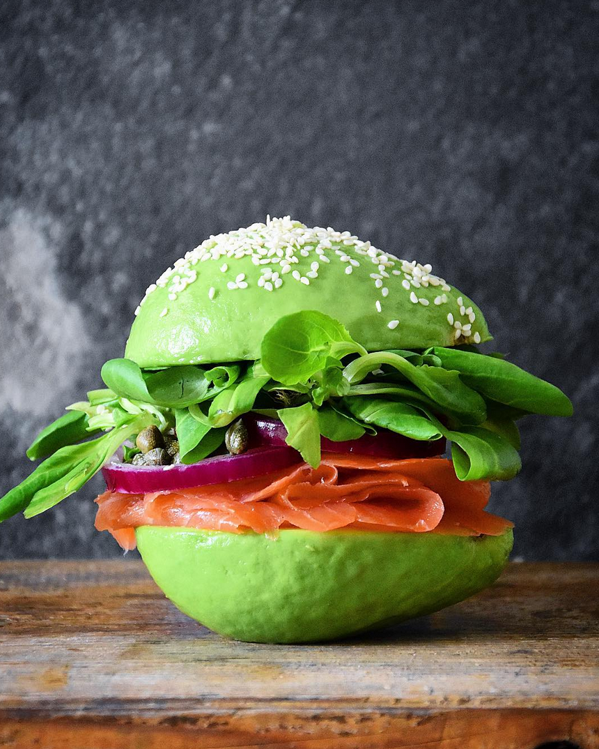 Avocado-Burger @FoodDeco