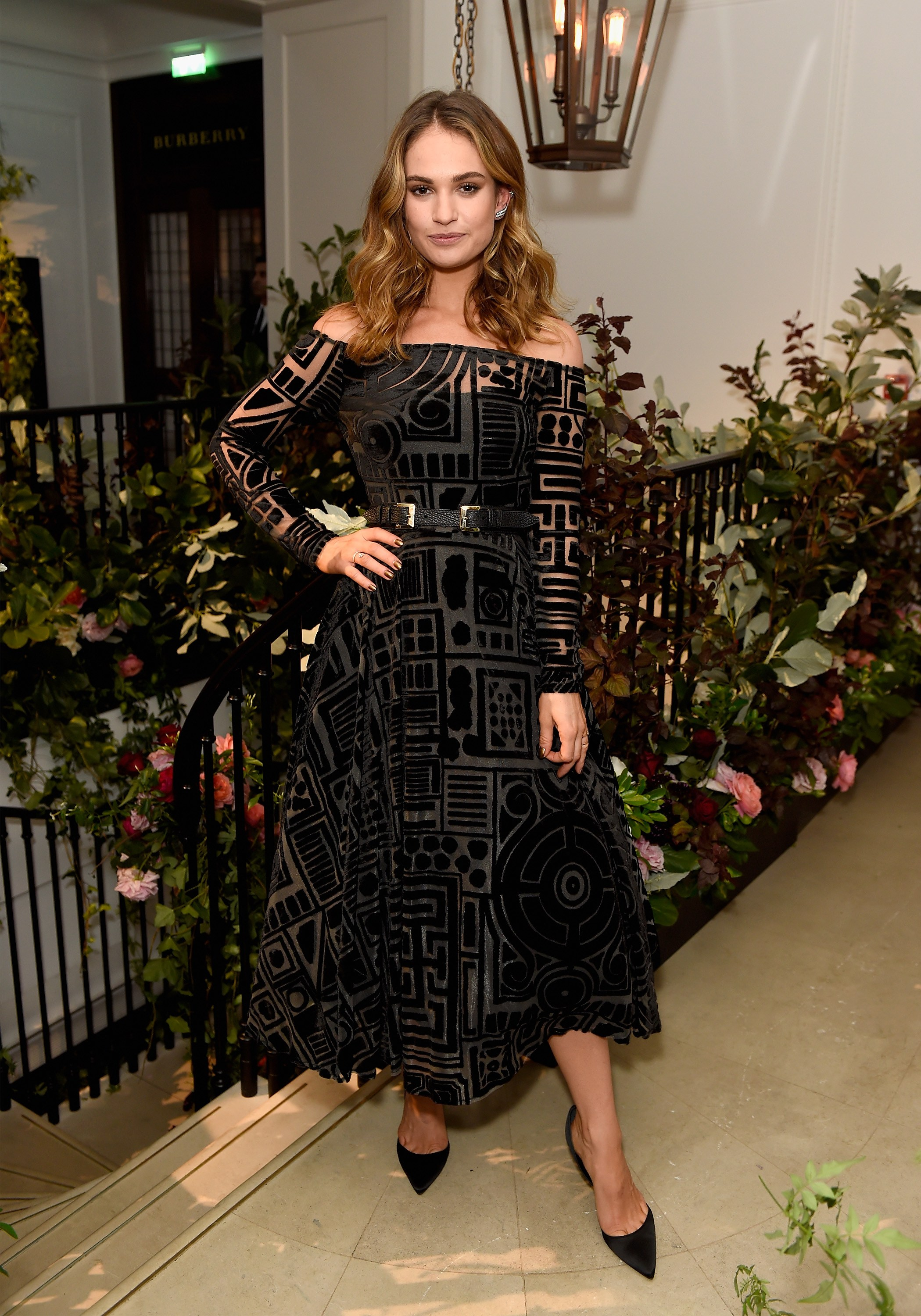 Red Carpet Best Dressed Celebrity August 2016 Lily James My Burberry Black launch