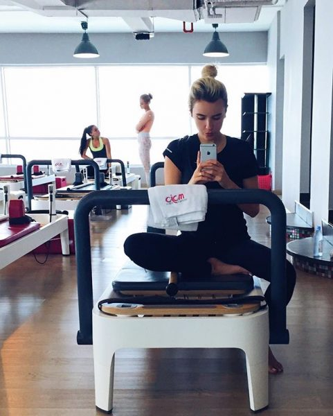 Hannah Rasekh Morning Routine Pilates