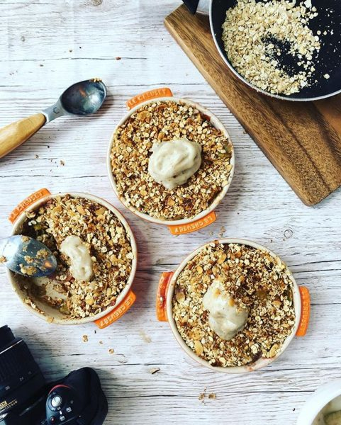 Health Fitness Influencer Carly Rothman Crumble Recipe