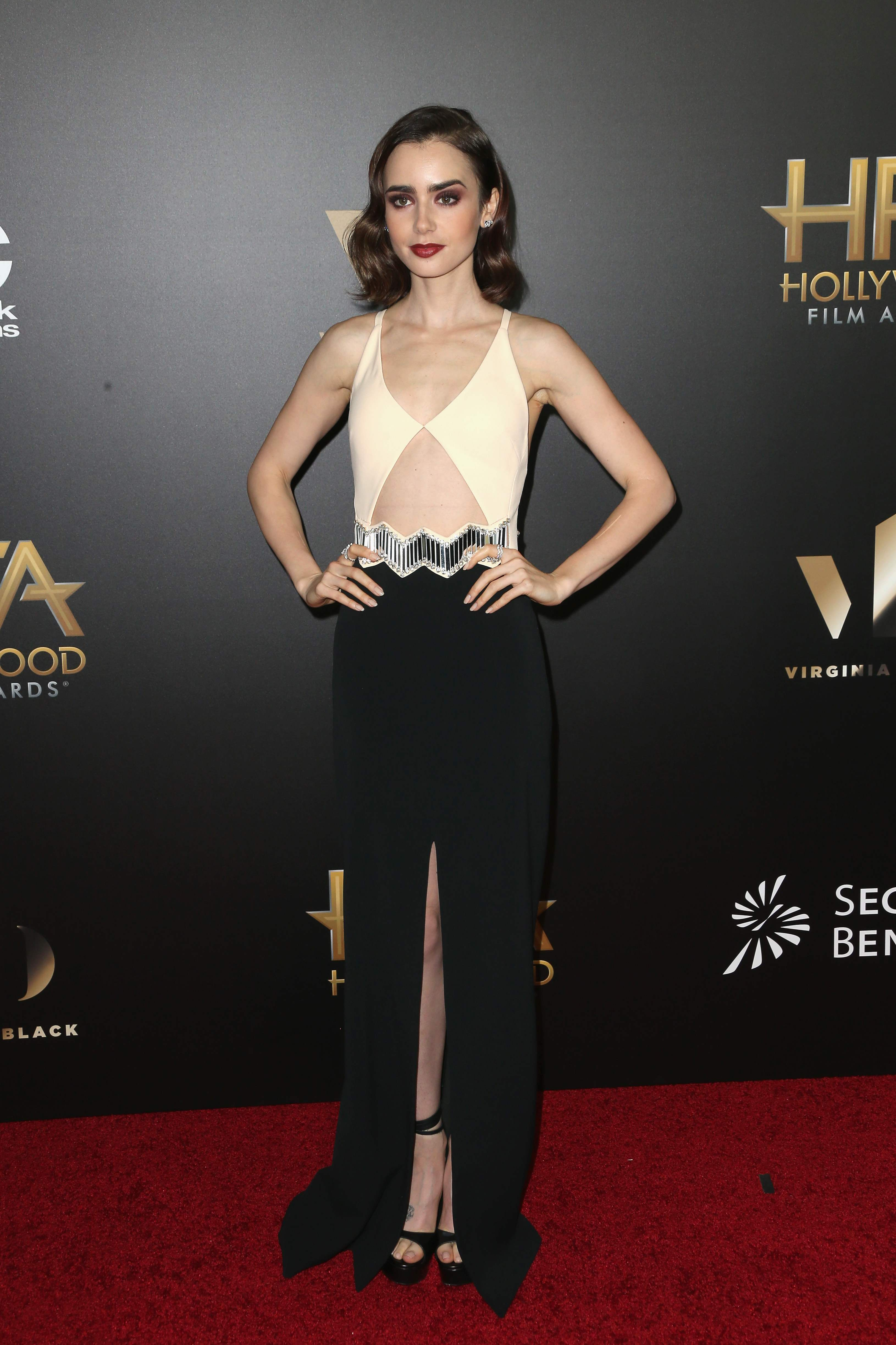 Best Dressed Celebrities November 2016 Lily Collins