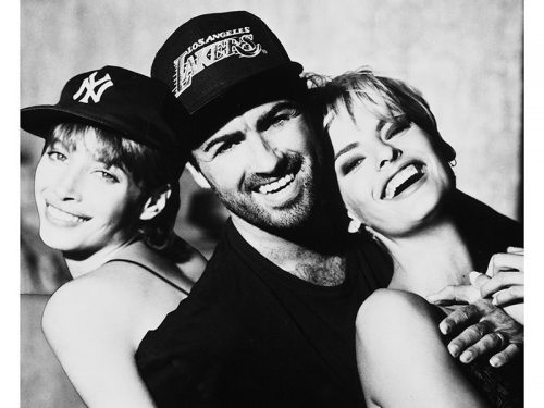 George Michael with Christy Turlington and Linda Evangelista