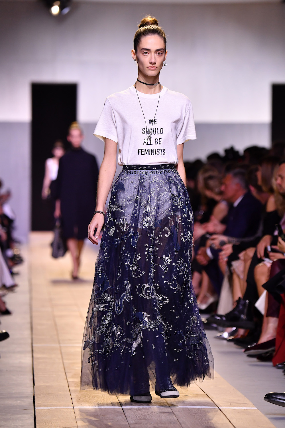 A model walks the runway Christian Dior show as part of the Paris Fashion Week Womenswear Spring/Summer 2017 on September 30, 2016 in Paris, France.