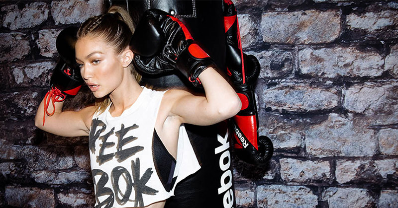 Gigi Hadid Reebok Perfect Never