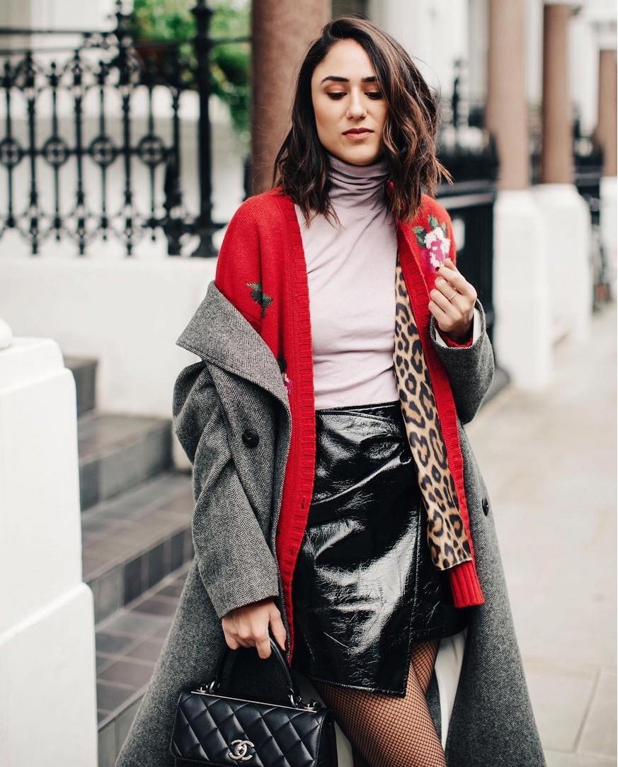 Short Skirt And A Long Jacket - Skirts