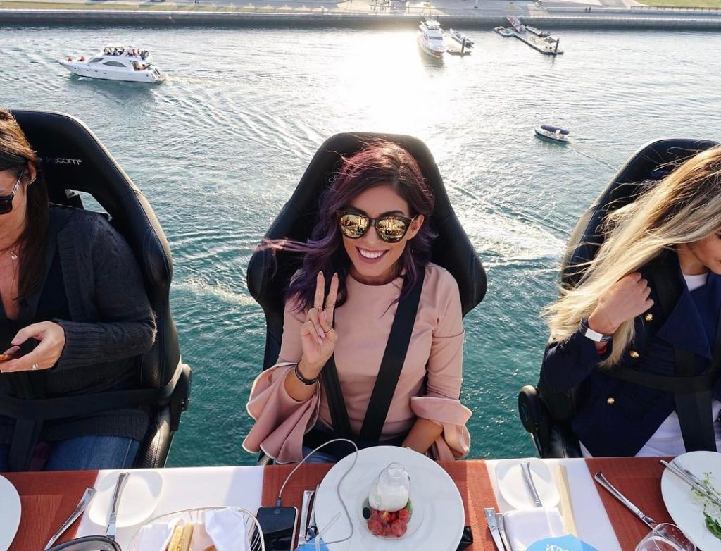 Is It a Bird? Is It a Plane? It's Dubai's Influencers Dining in the Sky