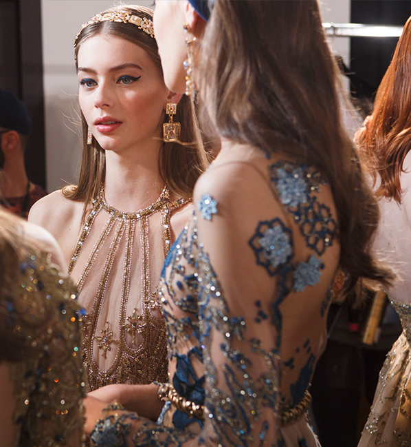 Elie Saab Presents Middle East-Inspired Haute Couture Accessories in Paris
