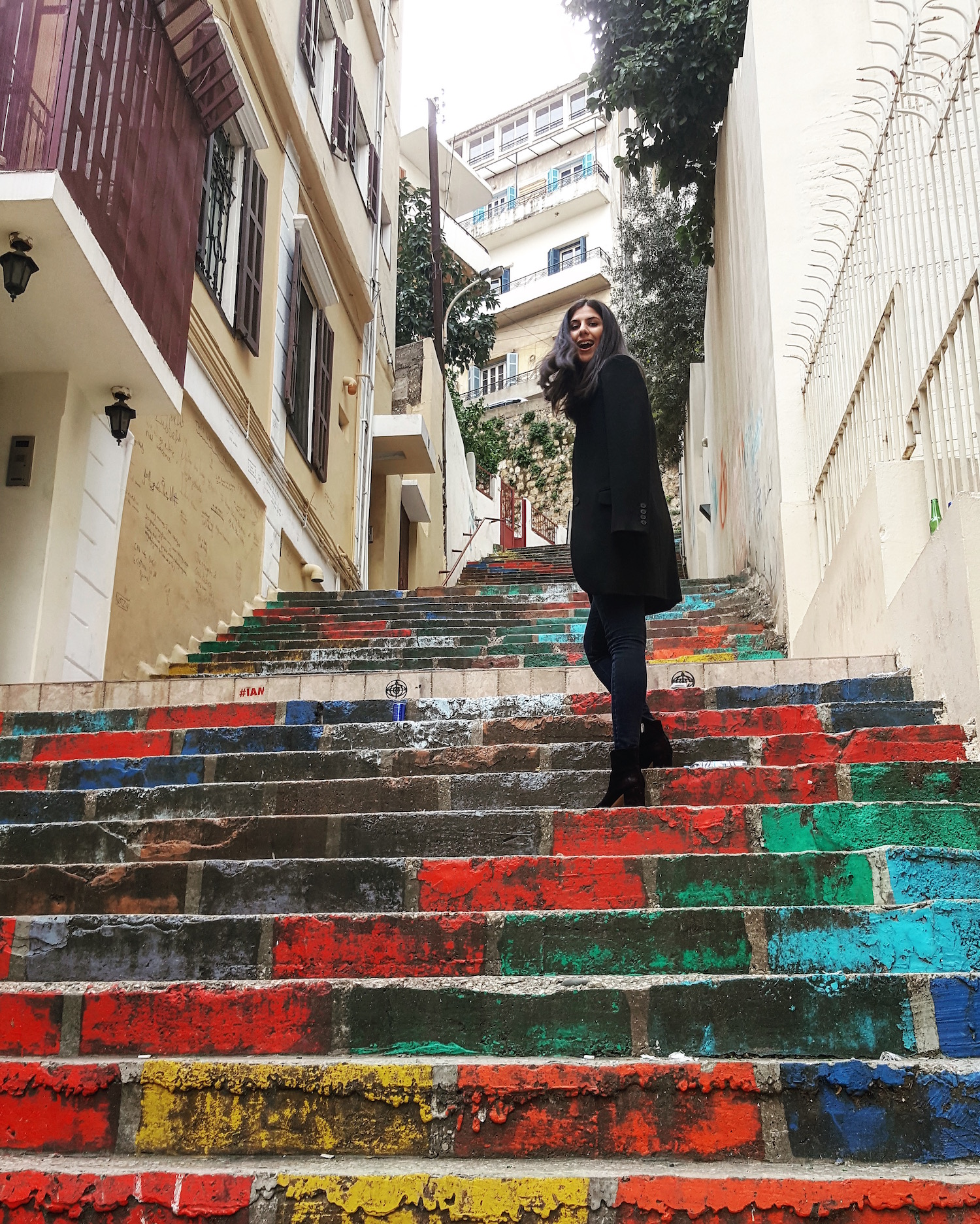 Nathalie Trad Beirut colorful steps