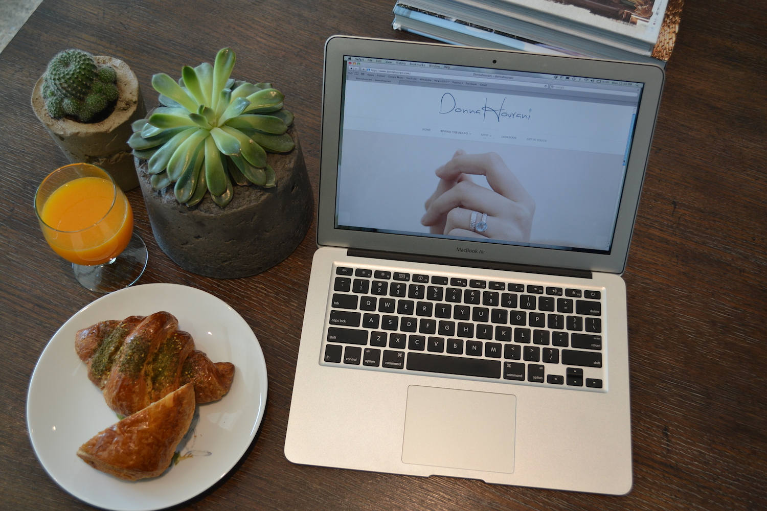 Donna Hourani In between breakfast and updating the site