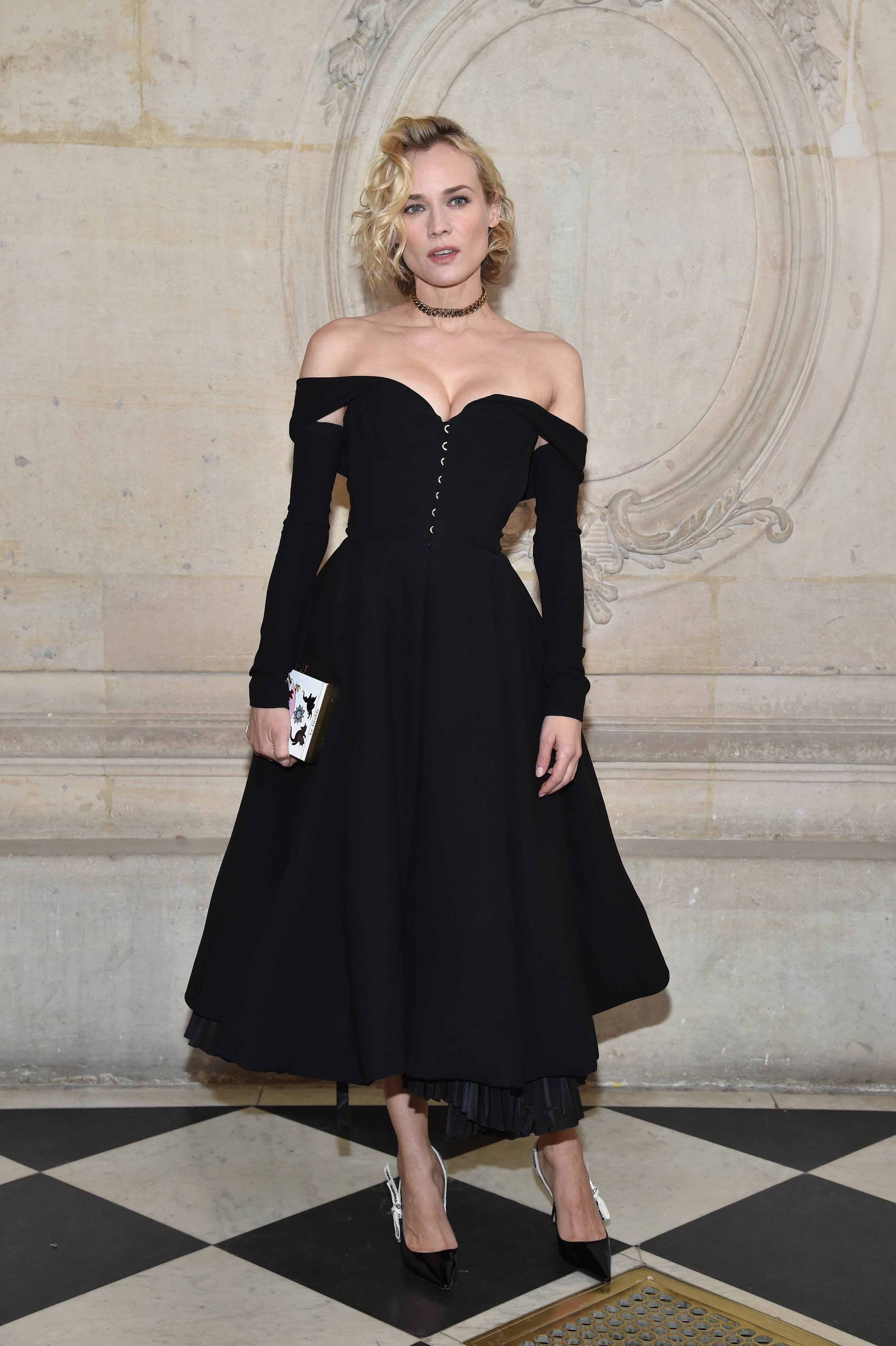 Celebrities Front Row Spring 2017 Paris Couture Week Dior Diane Kruger