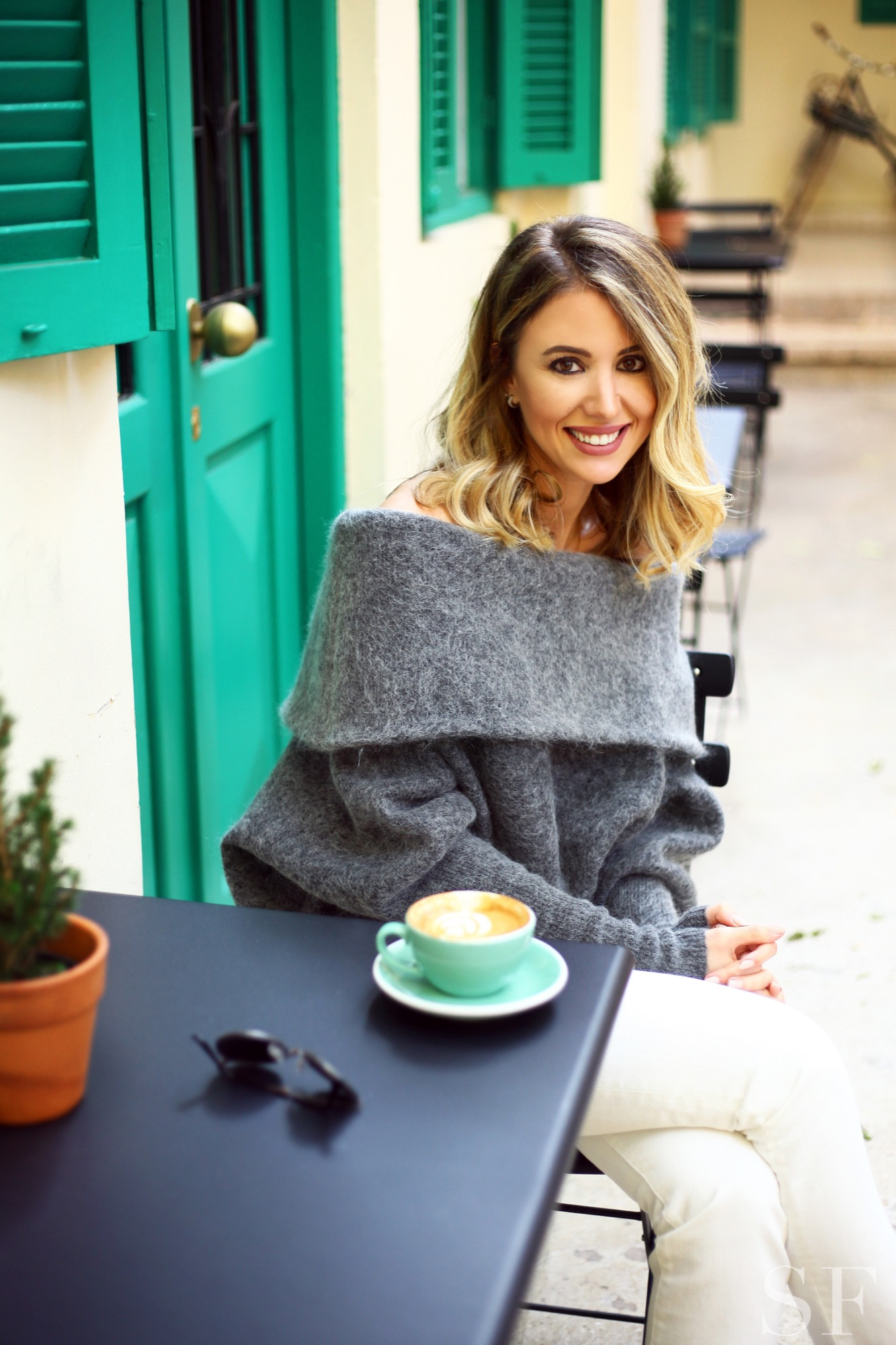 nour khoury guide to beirut Kalei Coffee grey sweater