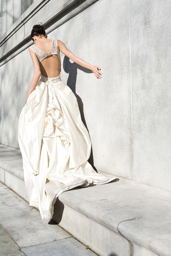 Wedding Bride back gown